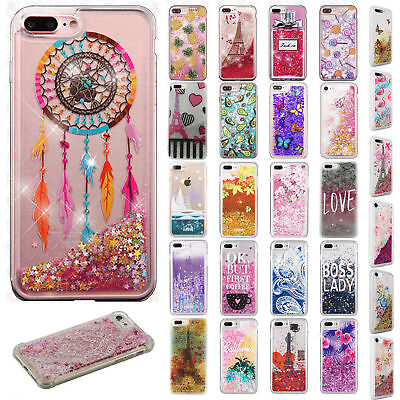 For Apple iPhone X / XS XR XS MAX Liquid Glitter Quicksand Hard Case Phone Cover