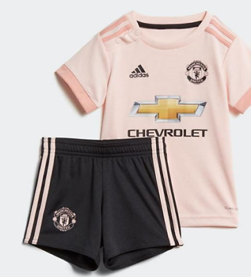 pretty nice dbd3a a3333 ADIDAS MANCHESTER UNITED Away Baby Kit 2018 2019 Pink UK size 9-12 Months