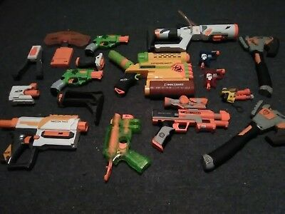LARGE used Nerf gun lot! SONIC Series Nite Finder, Recon MkII, Jolt and more!