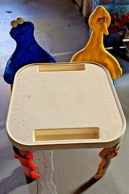 Vintage Knickerbocker Sesame Street Table and Chairs Cookie Monster and Big Bird