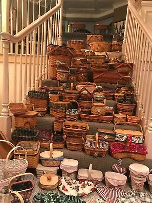 Longaberger Basket Lot - almost all baskets are specialty baskets combos