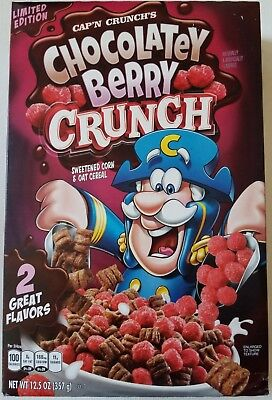 NEW Cap'n Crunch's Chocolatey Berry Crunch Flavored Cereal FREE WORLD SHIPPING