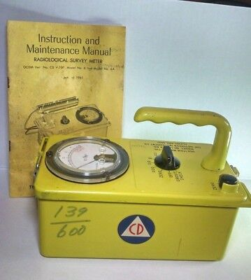 Victoreen Cdv-715 Radiological Survey Meter Geiger Counter 1A