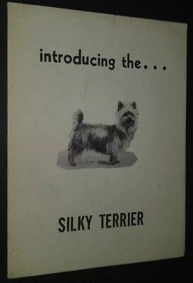 Vintage Introducing The Silky Terrier Dog Pamphlet