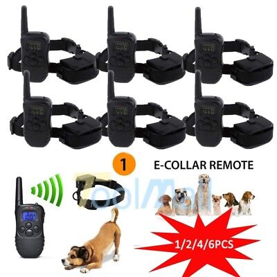 Lot LINEBA Waterproof Dog Training Collar with Vibration Shock Electric E-Collar