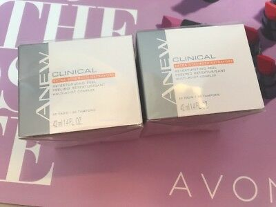 *Lot of 2* Avon ANEW Clinical Advanced EXTRA STRENGTH Retexturizing Peel 30Pads