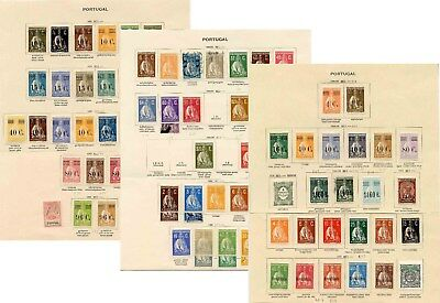 PORTUGAL CERES 1924-30 MINT + USED on PAGES 83 STAMPS