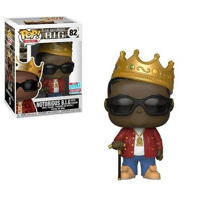 Funko POP! ROCKS 2018 NYCC Notorious B.I.G with Crown Pop Vinyl red jacket