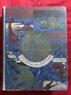 Rare 1894 P.t. Barnum Circus Wild Animals Antique Illustrated Greatest Showman