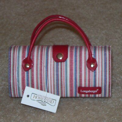 Longaberger Market Stripe EYEGLASS Sunglass Case ~ Brand New with Tags!