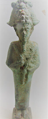 Ancient Egyptian Bronze Statue Of Osiris