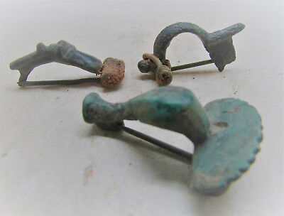 Lot Of Ancient Roman Bronze Brooches