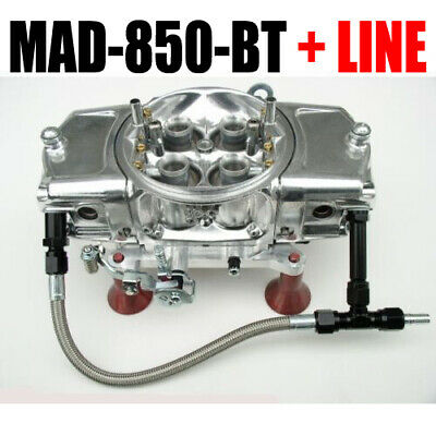 Mighty Demon MAD 850 BT 850 Cfm Anulare Blow Thru Carburatore With #6 Nero Kit