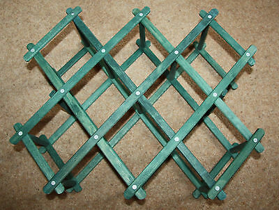 Wooden Folding Wine Rack, Green, Very Good Condition
