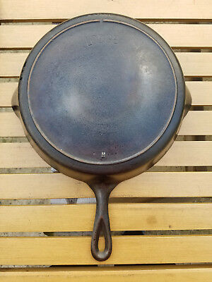 Antique Lodge 9 H Cast Iron Skillet Arch Logo Heat Ring HTF Rare Vtg USA Notch