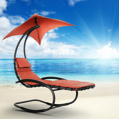 Outdoor Garden Sun Canopy Hanging Rocking Shade Chair Chaise Lounge Canopy F6I8