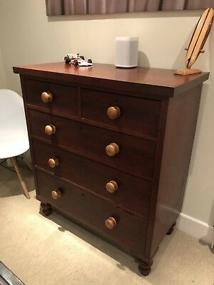 Antique Victorian Mahogany Chest Of Drawers Bank Of Drawers 2 Over 3