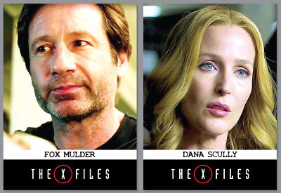 2015 NYCC Exclusive - THE X-FILES - Season 10 - 2 Card Promo Set - Mulder Scully