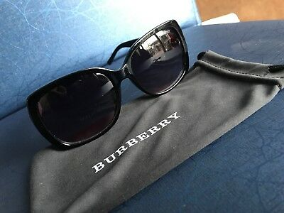 debdda237b NWT BURBERRY SUNGLASSES BE 4160 3433 8G Black   Gray Gradient 58 mm ...