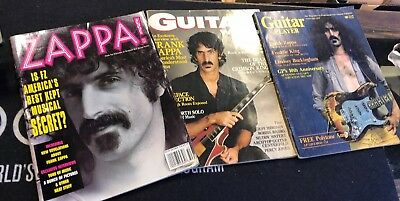 Lot Of Three Vintage Frank Zappa Magazine Covers Guitar Player Guitar World