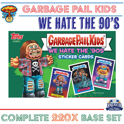 2019 Garbage Pail Kids | We Hate the 90's | COMPLETE 220x Sticker SET | FREE S&H