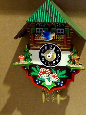 Unusual A Small Black Forest Cuckoo Clock, wood make good gift