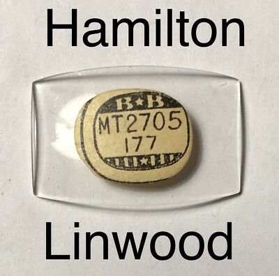 NOS Vintage 1930s Hamilton Linwood Watch Glass Crystal Antique Rare