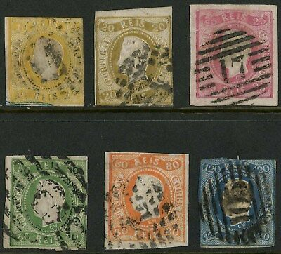 PORTUGAL 1866-67 IMPERFS 6 STAMPS MIXED WITH FAULTS cv £400+