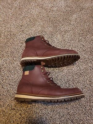 deb0c337848db LACOSTE MEN S MONTBARD Leather Winter Boots Shoes Dark Brown Size 12 ...