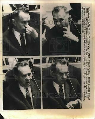 1967 Press Photo UN in NYC, Soviet Premier Alexi Kosygin, - nea77764