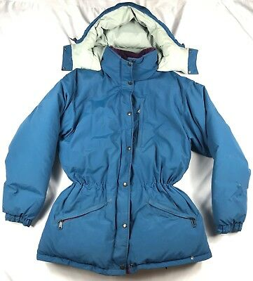 4b6299f2c6f1e Vintage LL Bean Womens Medium Blue Penobscot Parka Goose Down Ski Winter  Jacket