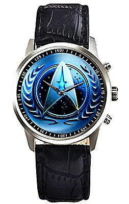 Star Trek United Federation of Planets Leather Band WRIST WATCH
