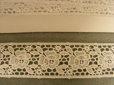 Guipure White Galloon Lace Trim 2 mts