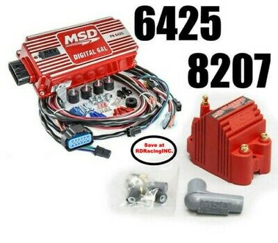 MSD Ignition 6425 Digital 6AL ignition Control With Rev control With 8207 Coil