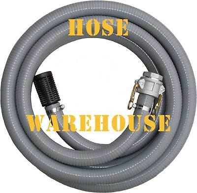 """Fire Fighting Suction Hose, Quickfit,  2"""" I.D. Grey PVC x 5mtrs FREE FREIGHT"""