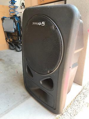 2 x Speakers sub & amp black an easy to move around