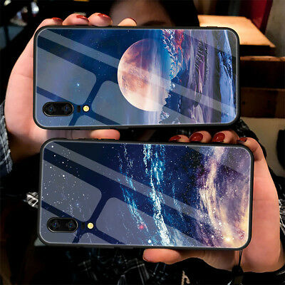 For Huawei Mate 20 Pro P20 Luxury 3D Starry Space Temper Glass Bumper Case Cover