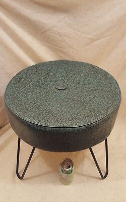 Vintage Mid Century Modern Foot Stool Ottoman with Hairpin Legs WOW!!
