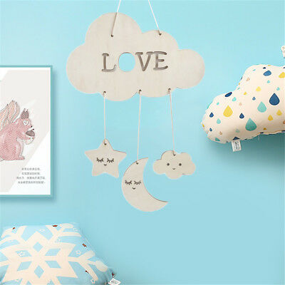 Lovely Moon Stars Wall Hanging Ornaments Photography Props Baby Room  Home Decor
