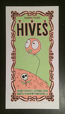 The Hives Los Angeles Poster 2004 Tara McPherson Mr. Wiggles