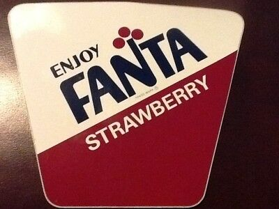 Coca-Cola Fanta Strawberry Decal 1960's Extra Large Bright Colors Very Rare! 3M
