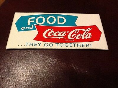 Coca-Cola Decal 1950's Rare & Mint Condition. Arrows with Fishtails at the end!
