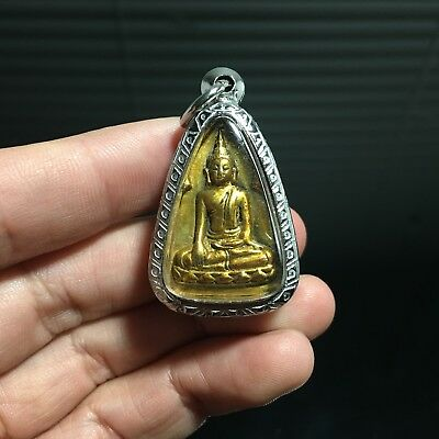 Beautiful Lp Wat Bodnoi Ubosatha Thai Buddha Amulet Luck Rich Win Protect