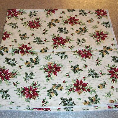 """Longaberger Holiday Botanical FABRIC SQUARE 36"""" inch ~ Brand New with Tags!"""