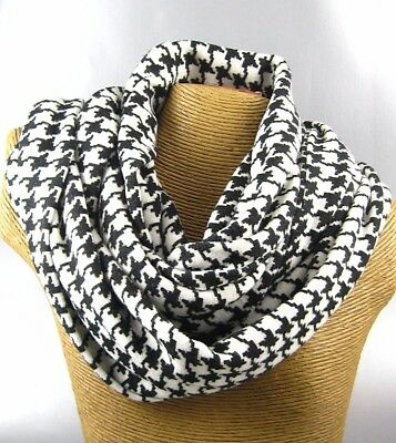NEW HOUNDSTOOTH DESIGN Warm Women Winter Infinity Circle Knit Cowl Scarf Shawl