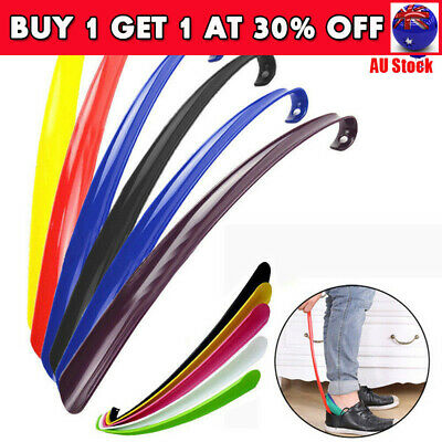 3x Convenient Shoe Horn Extra Long Plastic Boot Mobility Easily Slip On Shoes CB