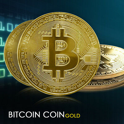 New Gold Plated Bitcoin Coin Collectible BTC Coin Art Collection Gift Physical
