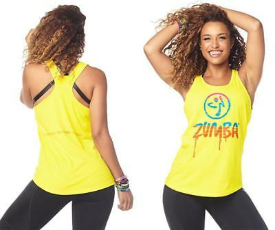 1a88ed6aec ZUMBA DRIPPING IN Zumba Loose Tank - Mell-Oh Yellow Z1T01964 ...