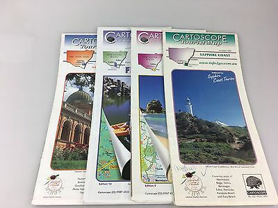 4 Cartoscope - Tourist Maps - Sapphire Coast, Snowy Mountains & Capital Country