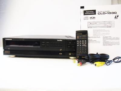 """""""RARE"""" Pioneer LaserDisc Player CLD-1030 w/ Remote CU-CLD034, Manual & Cables"""